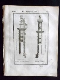 Vignola 1720 Architectural Print. Profiles from Michelangelo 65